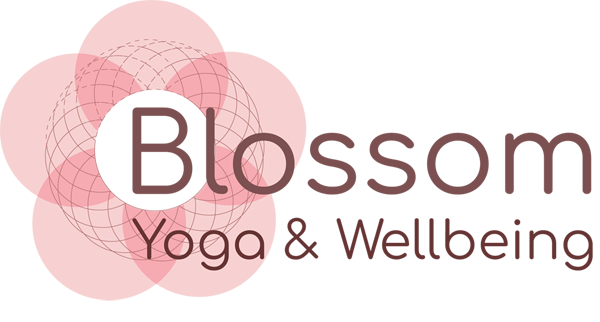 logo for blossom yoga and wellbeing